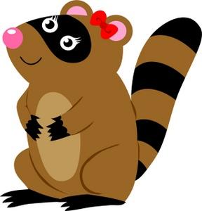 Raccoon w bow